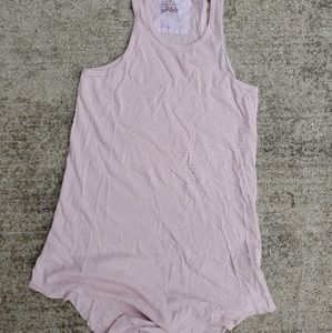 Frank and Eileen soft pink long layer tank top S